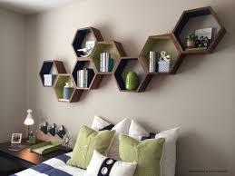 geometric wood shelves honeycomb shelves floating shelves