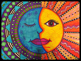 warm sun u0026 cool moon mexican folk art project for grades 3 5