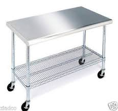 stainless steel top kitchen cart rolling stainless steel top kitchen work table cart casters