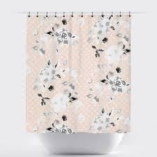 Peach Floral Curtains Shop Shabby Chic Shower Curtains On Wanelo