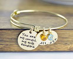 personalized bangle personalized you are my bracelet sted jewelry