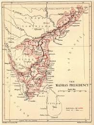 British India Map by Presidencies And Provinces Of British India