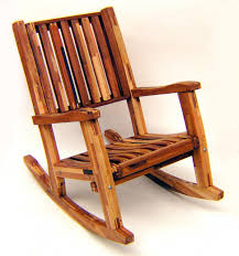 One Piece Rocking Chair Cushions Redwood Outdoor Rocker Hand Crafted Wooden Rocker