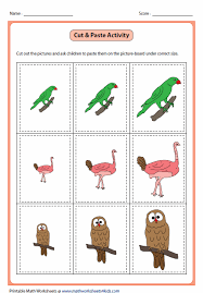 kindergarten activities big and small and small worksheets