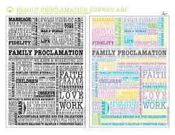 family proclamation moralist family proclamation subway lds nest
