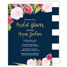 bridal shower invitation floral navy and gold bridal shower invitation ellison reed