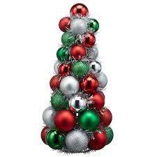 shop for the green red and white tabletop tree ornament by