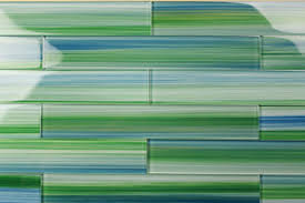 blue green 2x12 hand painted subway glass tile kitchen for
