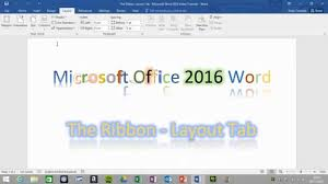 word layout pictures layout tab the ribbon word 2016 youtube