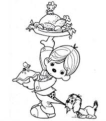 a kid preparing canada thanksgiving day dinner coloring page netart