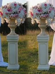 Pedestals Flowers Urn And Pedestal Hire Wedding Decorations By Naz