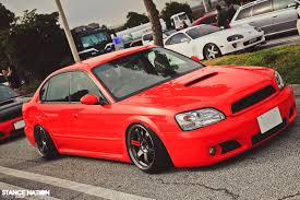 red subaru legacy slammed legacy on volks stancenation form u003e function