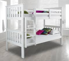 Atlantis White Bunk Bed Standard Two Sleeper Quality Solid Pine - Good quality bunk beds