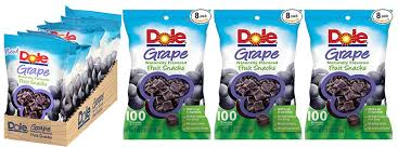 dole fruit snacks 8pk dole grape fruit snacks 7 12 free shipping 0 89 bag
