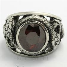 metal stone rings images Wholesale lots red stone ring mens women 39 s fashion 316l stainless jpg