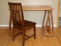 Wood Home Interiors Furniture Captivating Sawhorse Desk For Home Furniture Ideas