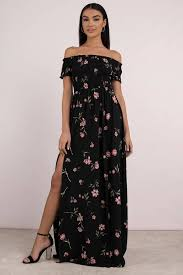 maxi dress kate black multi floral print maxi dress 49 tobi us