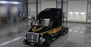 used kw t680 kenworth t680 smokey and the bandit skin mod american truck
