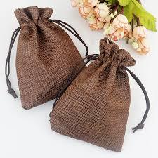 small burlap bags online shop 100pcs lot 13x18cm coffee jute bags favor linen bag