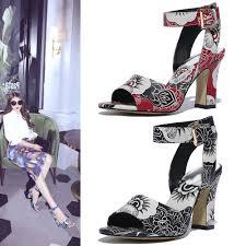 shoe u0027n tale new paper flowers women sandals patent leather high
