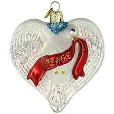 world peace dove glass blown