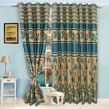Curtains Printed Designs Printed Curtains Designer Blue Curtain Manufacturer From Ahmedabad
