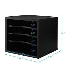 Wood Desk Drawer Organizer Fitueyes Home Printer Stands Desk Drawer Organizers Desktop File
