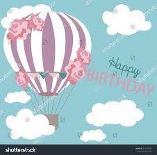 Invitation Card Birthday Air Balloon Invitation Card Birthday Stock Vector 513315946