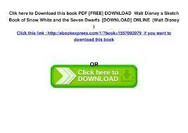 pdf free download walt disney s sketch book of snow white and the u2026