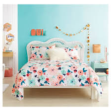 Coral And Mint Bedding Floral Printed Comforter Set Xhilaration Target
