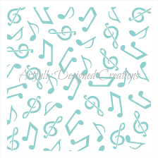 Home Stencil Music Notes Background Stencil Artfully Designed Creations