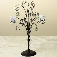 wrought iron jewelry tree brown in jewelry stands