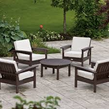 Resin Patio Chairs Wicker Outdoor Conversation Sets Patio Decoration