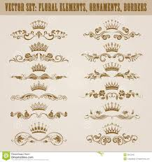 set of vector damask ornaments stock vector image 39870432
