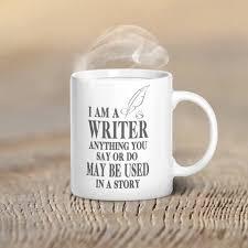am a writer mug