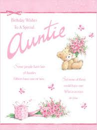 cute auntie birthday card