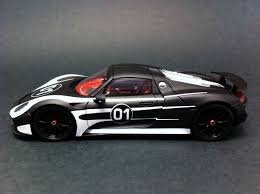 porsche 901 prototype porsche 918 spyder prototype n 1 black white 1 43 spark