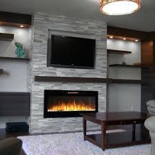 fireplace design wall unit panels tile ideas amazon inch pebble