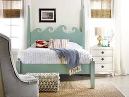 Coastal Bed Frame Bedroom Looking Coastal Bedroom Idea With Turquoise Bed Frame