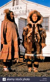 arctic people eskimo inuit eskimo women take tea s stock photo