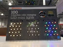 ge led icicle lights costco sylvania 100 count led color changing lights costcochaser