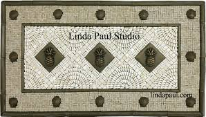 kitchen medallion backsplash pineapple kitchen backsplash tile mosaic medallion pineapple tiles