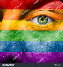 Flag Face Rainbow Flag Painted On Face Show Stock Photo 114739651 Shutterstock