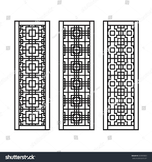 traditional asian window door pattern vector stock vector