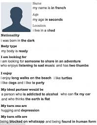 best way to fill out an online dating profile