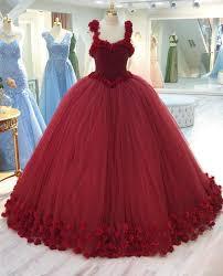 wedding dress maroon burgundy floral flower gowns wedding dress 2018