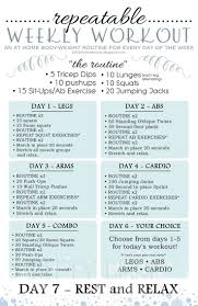 best 25 weekly workout plans ideas on weekly workout