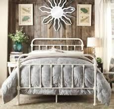 queen bed white metal queen bed steel factor