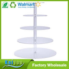 china 6 tier dessert or cupcake stand acrylic tiered wedding cake