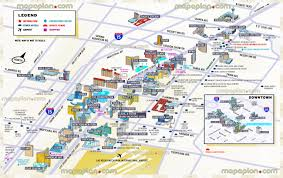 Las Vegas Fremont Street Map by Map Of Las Vegas Casinos My Blog